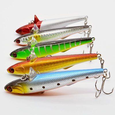 8pcs//lot Minnow Baits Plastic Bait Bass CrankBait Tackle Fishing Lures 9.5cm//7g