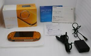 Exc-5-Sony-PSP-3000-Console-BRIGHT-YELLOW-w-Box-Charger-PlayStation-Portable