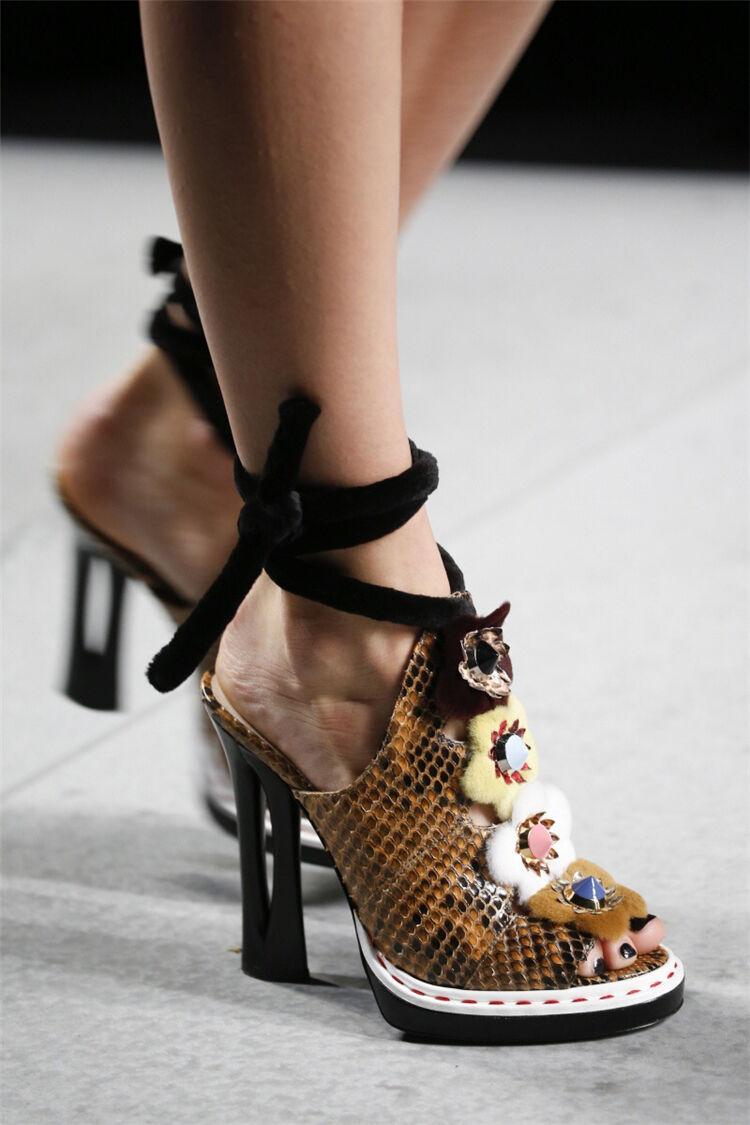 Escarpins femme talon haut Roma Bout Ouvert Fleur Été Sandales Chaussures Toutes Les Etats-Unis Hot