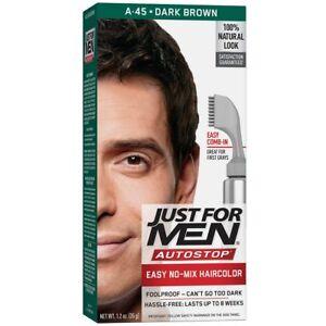 Just-For-Men-AutoStop-Men-039-s-Comb-In-Hair-Color-Dark-Brown