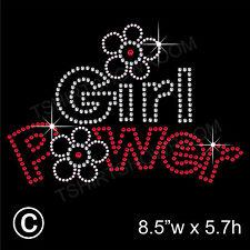Power Girl Strass/Diamante finto Applicazione Hotfix Ironon Motivo
