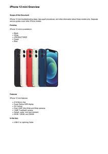 Apple iPhone 12 mini Technician Guide Service Manual