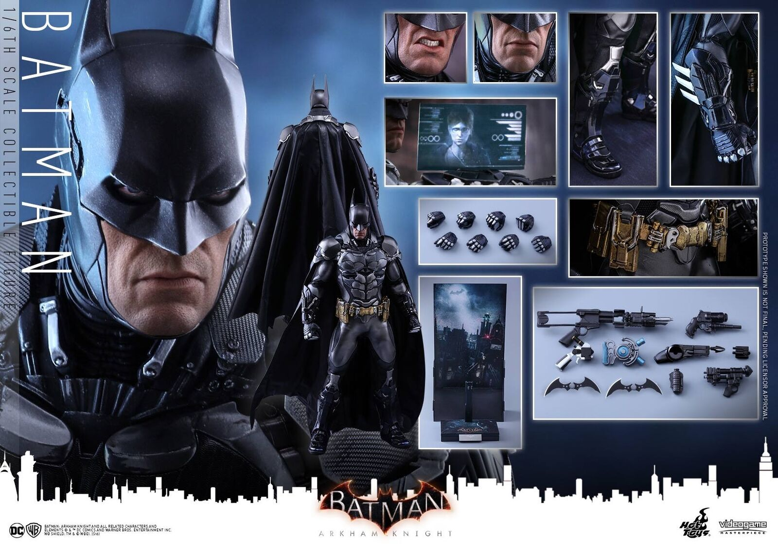 Hot Toys 1/6 VGM VGM VGM 26 Batman Arkham Knight 12 inch Action Figure Bruce Wayne New 10eb99