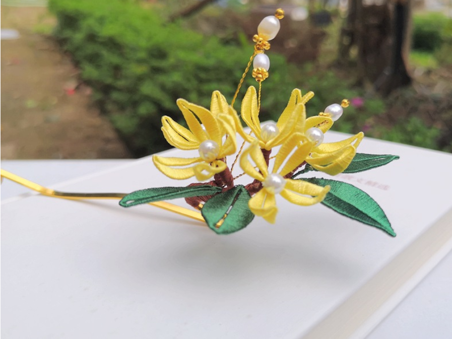 LY Hand-Wrapped Hair Ornaments Hanfu Ancient Style Daily Hairpin Headdress Hai