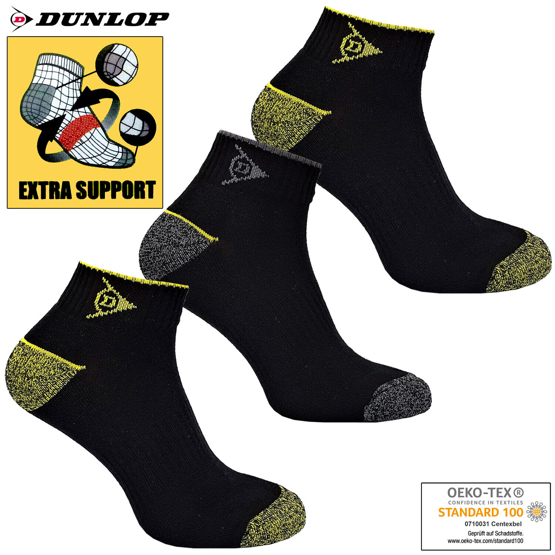 3-24 Paar Dunlop Arbeitssocken Sneaker Thermo Kurzsocken Sport Socken Gr. 39-46