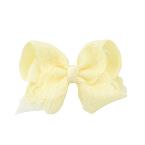 1 Piece Cute Bay Girls Crochet Lace Hair Bows Hair Pin Clip Headwear Accessories