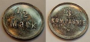 1/2 Mark Militärgeld 3.Kompanie Approx. 1910 German South West Africa