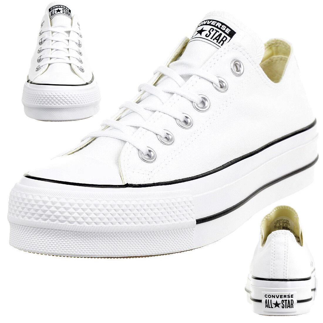 Converse C Taylor all Star Lift Ox Chuck Platform shoes Canvas White 560251c