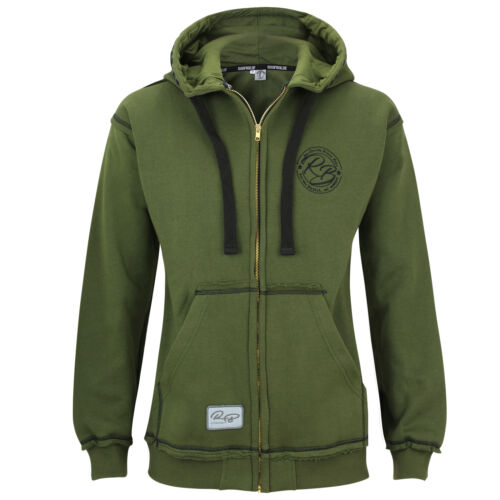 Raufbolde streetwear Zip Hoody Ever Green Giacca Con Cappuccio BODYBUILDING FITNESS
