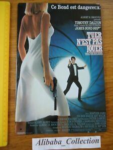 Placa-Chapa-James-Bond-007-Tuer-Es-Pas-Juego-Pelicula-Timothy-Dalton-Publicidad