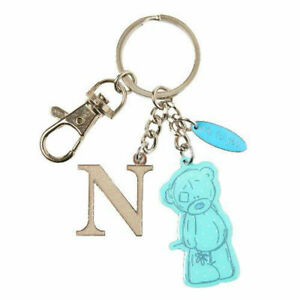 Me-To-You-Tatty-Teddy-Bear-Letter-N-Keyring-with-Charms-by-Carte-Blanche
