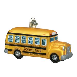 Old-World-Christmas-SCHOOL-BUS-46007-X-Glass-Ornament-w-OWC-Box