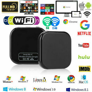 Details about 2 4G/5G WiFi HDMI TV Stick Wireless Display Dongle Screen  Mirror for Chromecast