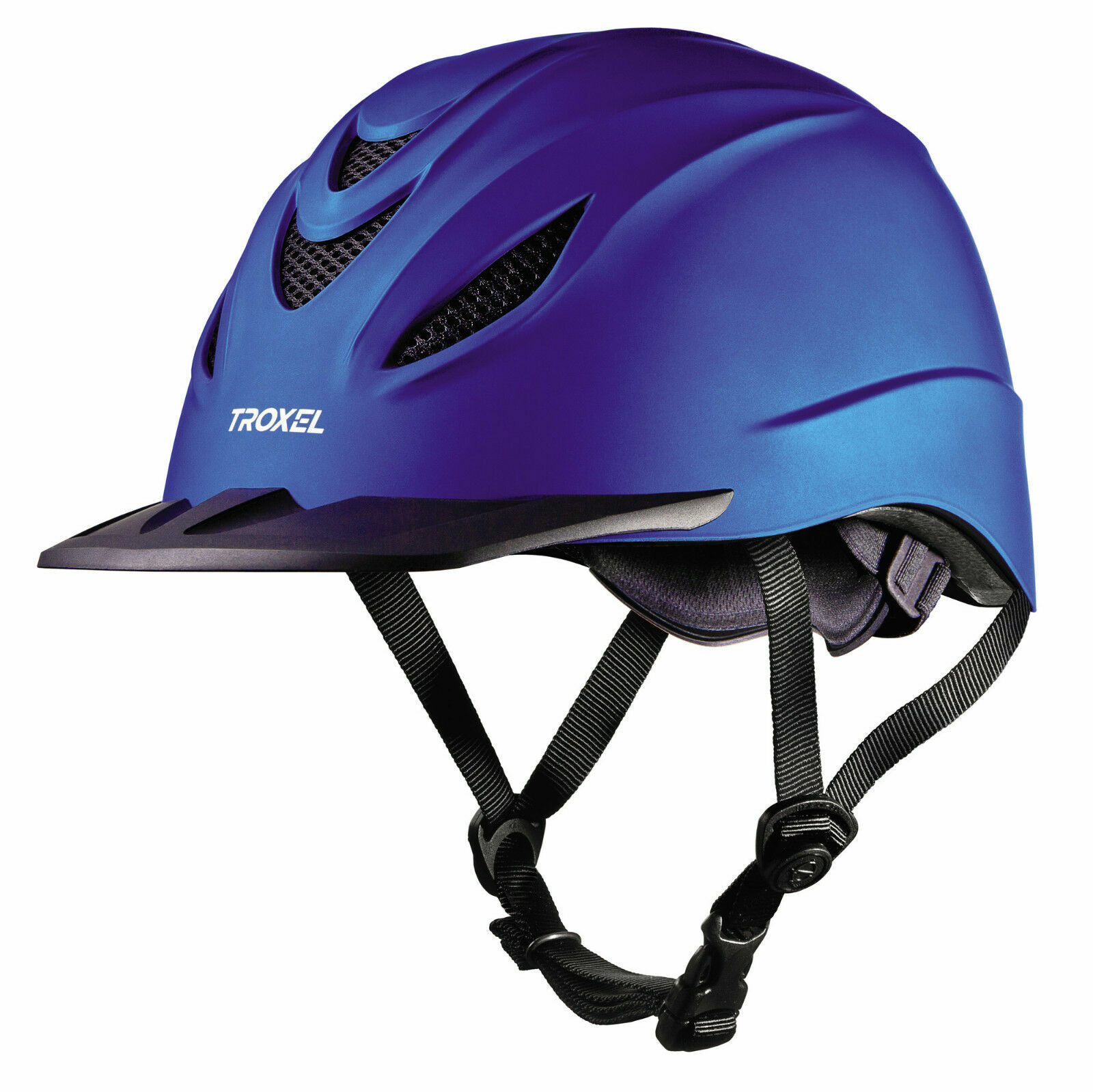 Troxel Intrepid Indigo English Riding Helmet  Med 77 14