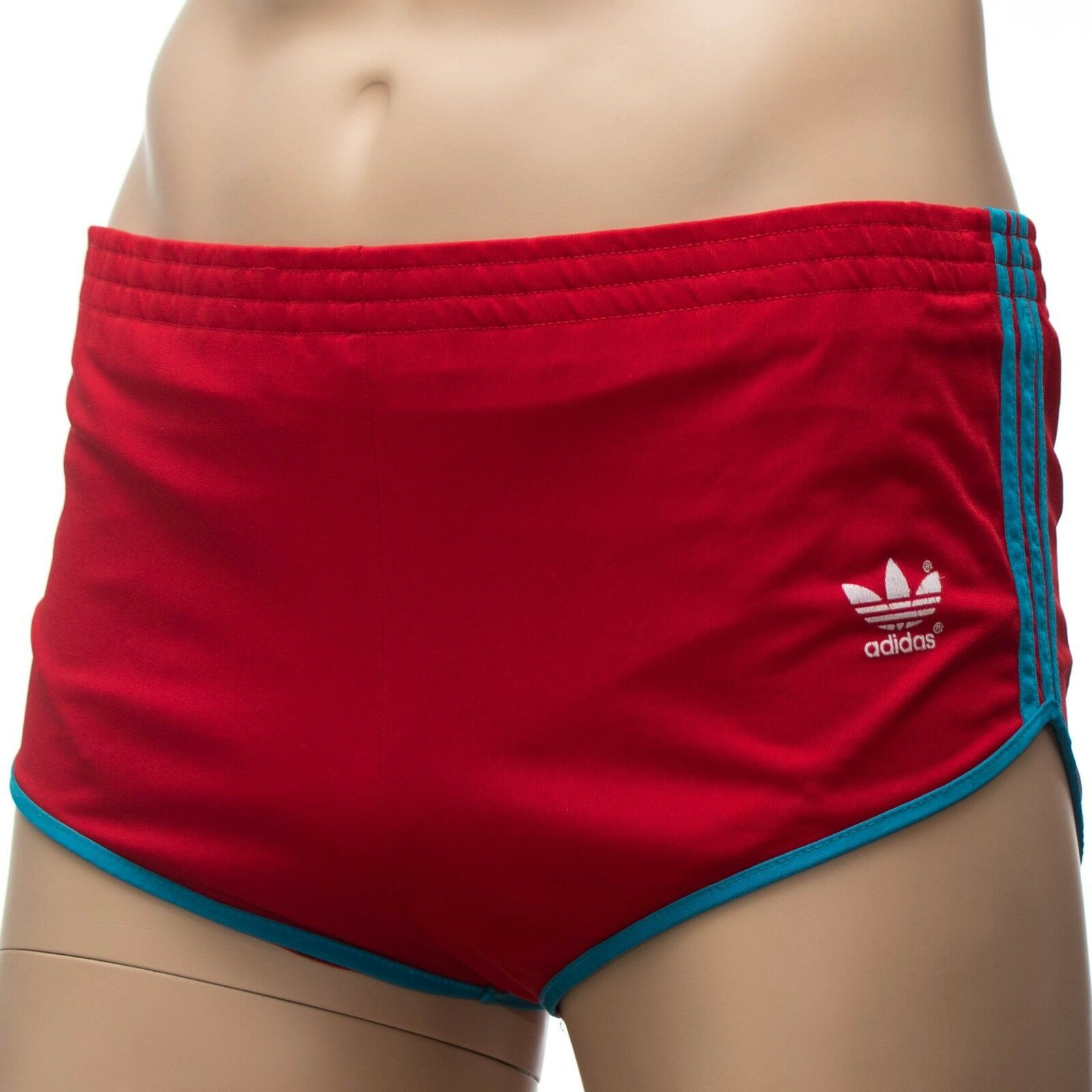 RAR ADIDAS Vintage Shorts Badehose Badehose Badehose - Made in W.Germany - rot rot  Gr 4 (1532)    Professionelles Design  19cd38