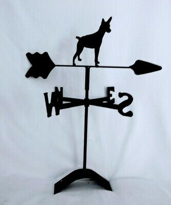 West Highland Terrier Roof Mounted Weathervane Black Wrought Iron