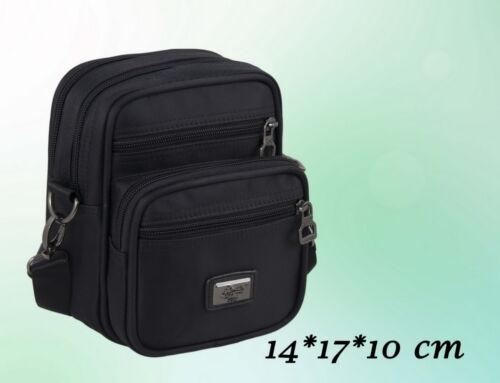 10 cm Uomo Borsa a tracolla piccola borsa a tracolla nero 14 17