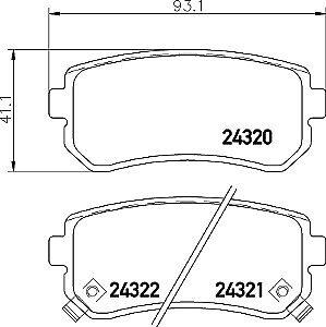 Cochez Pads Arrière Disques De Frein /& Garnitures pour Kia Sportage MK2 2.0 16 V 2.0 Crdi 2.7