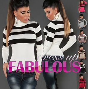 Sexy-Women-039-s-Turtleneck-Jumper-Sweater-Knit-Top-AU-SIZE-10-8-6-US-2-4-6-XS-S-M