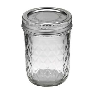 Ball-1440081200-Jelly-Jars-8-Oz-Regular-Mouth-Quilted-Crystal-Design