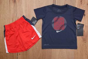7db1e6e5d164 Nike Baby Boy 2 Piece T-Shirt & Shorts Set~ Blue, Orange & White ...