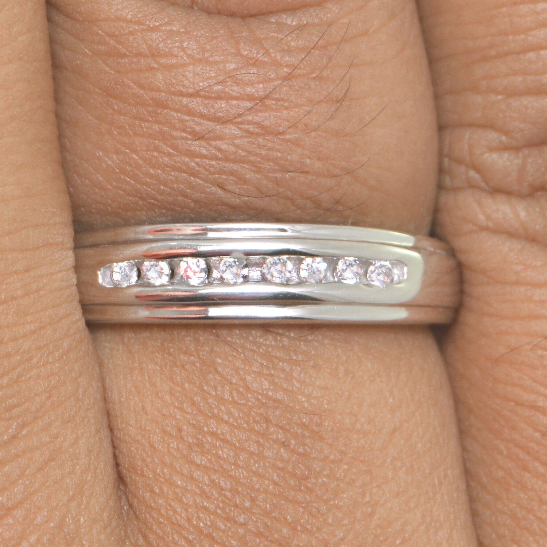 rossoondo D   VVS Solitario Matrimonio Set Set Set Trio Anello 14k oro Sopra 8f7757