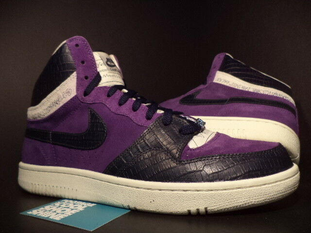 05 Nike dunk Air COURT FORCE HI 1 PURPLE OBSIDIAN BLUE SAIL STUSSY 312270-542 13 best-selling model of the brand