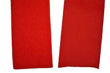 Gp 14,95 €/m Klettband rot 10 cm x 20 cm Klettverschluss Haken + Flauschband
