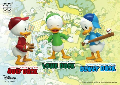 "HEROCROSS HMF #308 Disney Huey Dewey /& Louie Hybrid Metal 4"" Figure Set"