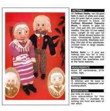 Grandma and Grandad knitted toys repro vintage knitting pattern