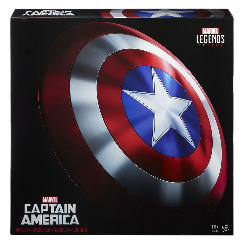 100% Hasbro Marvel Legends Captain America Shield 1:1 Scale Replica 24