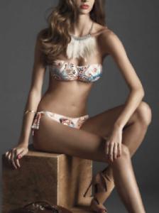 DOMANI Neckholder Bikini Set Bügel Bandeau Bikini Ethno Muster
