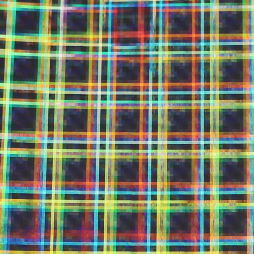 """12/"""" X 10ft Silver Rainbow Holographic LVG InterCal Specialty Craft Hobby Vinyl"""