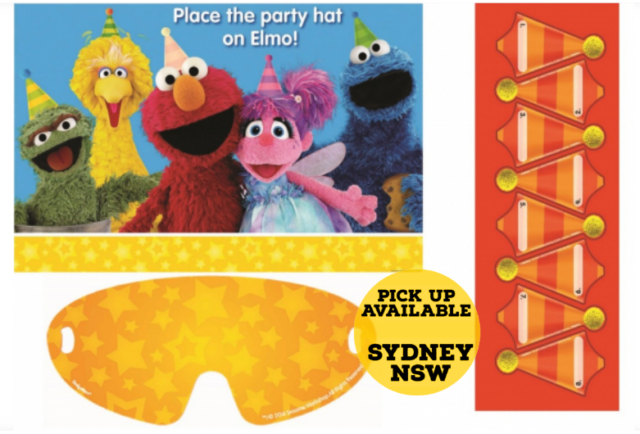 Sesame Street Party Game - Place the Hat on Elmo Birthday Party Game Supplies