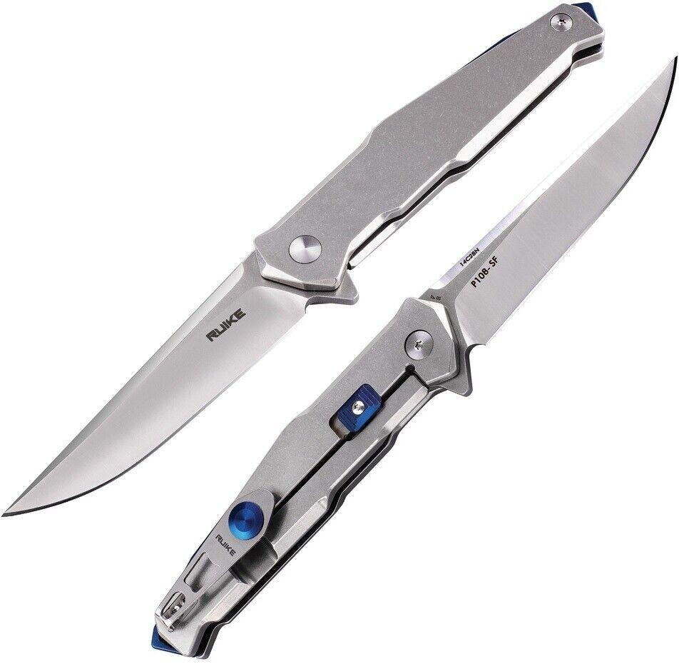 RUIKE P108 Beta Plus Folding Knife 3.5″ 14C28N Steel Blade 3Cr14N Steel Handle