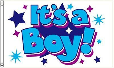 ITS A BOY NEW FLAG 5x3 Feet NEW CHILD BANNER