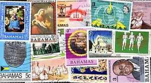 BAHAMAS collections de 25 à 300 timbres différents