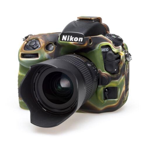 Reino Unido EasyCover Silicona piel suave caso cubierta Protector Nikon D810 Camoflague NUEVO