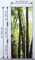 Türfolie Selbstklebend Tür Dekofolie Türposter Fototapete Ca.204x97,5 Bambus Neu