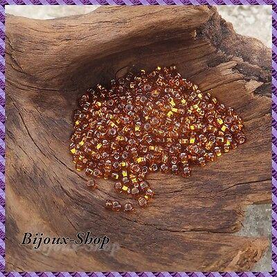 Anthracite  Lined Marque ORNELLA 50 grs de Perles de rocailles 2,1mm