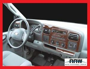 01 02 03 04 Ford F 250 F 350 F250 F350 Interior Wood Dash Trim Kit Set Crew Cab Ebay