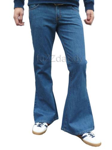 FLARES mens DENIM bell bottoms 70/'s vtg fancy hippie jeans Pants dress trousers