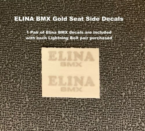 ELINA BMX Siège Autocollants Latéraux 1 paire Or Rub-on decals