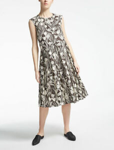 Max Mara Ferro Cotton Poplin Floral Prints Dress Size 16 Uk 14 Us 928 New Ebay