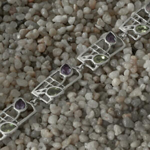 Amethysts-amp-peridots-Silver-bracelet-Charles-Rennie-Mackintosh