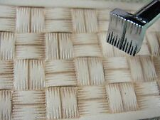 Steel Craft Japan - #X507 Large Square Basket Weave Stamp (Leather Tool)