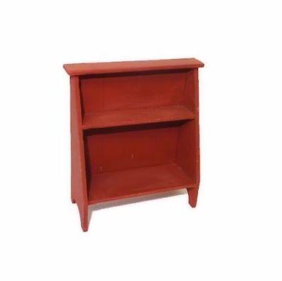 Dollhouse Sir Thomas Thumb Red Wood Bucket Bench 1800's Style Shelf Miniatures