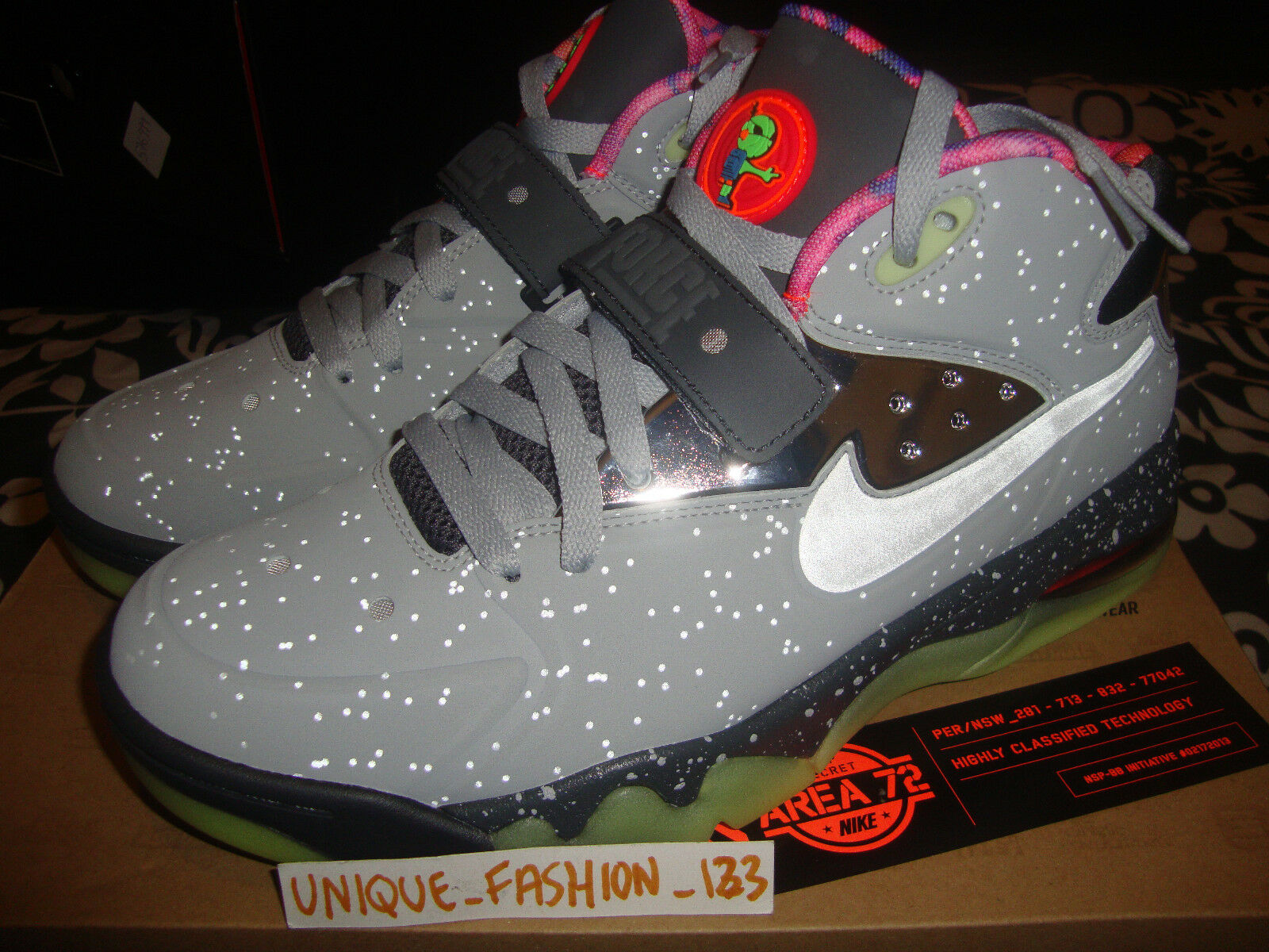 NIKE AIR FORCE MAX 2013 PRM ALL STAR AREA 72 US 10 QS BARKLEY AS ASG