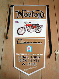 NORTON Commando pennant ROADSTER Fastback Interstate