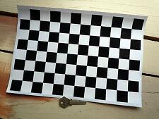 "Chequered Race Flag Car STICKER Sheet Checkered Check A4 12"" x 8"" Exterior Vinyl"